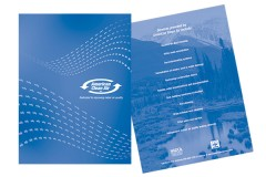 one-color folder design, graphic design firm MA 02346