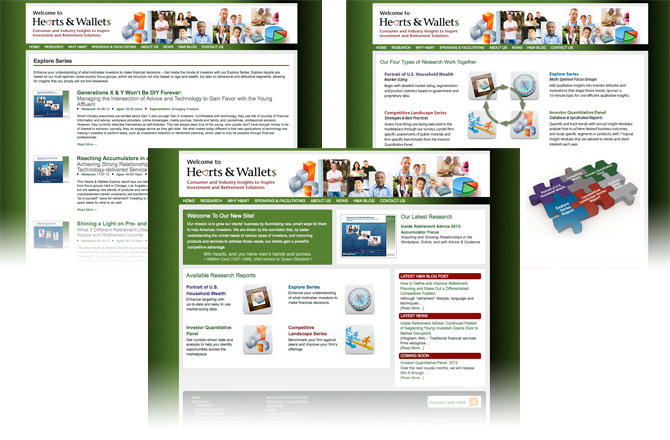website design, web site development, research industry web site