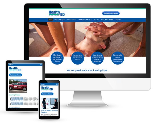 website design for events, website design for classes